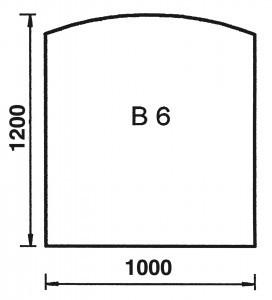 European domino cooktops Bodenplatte Bogen B6